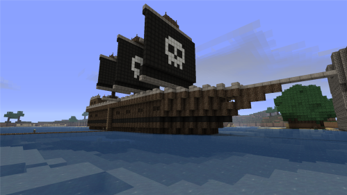 See cuz it's a pirate ship from a video game.
